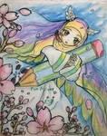 Raindow hijab art