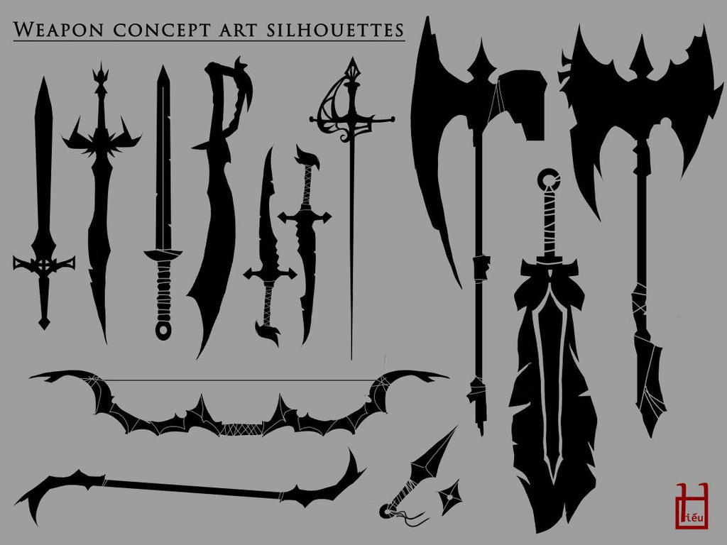 weapon silhouettes by minhhiu