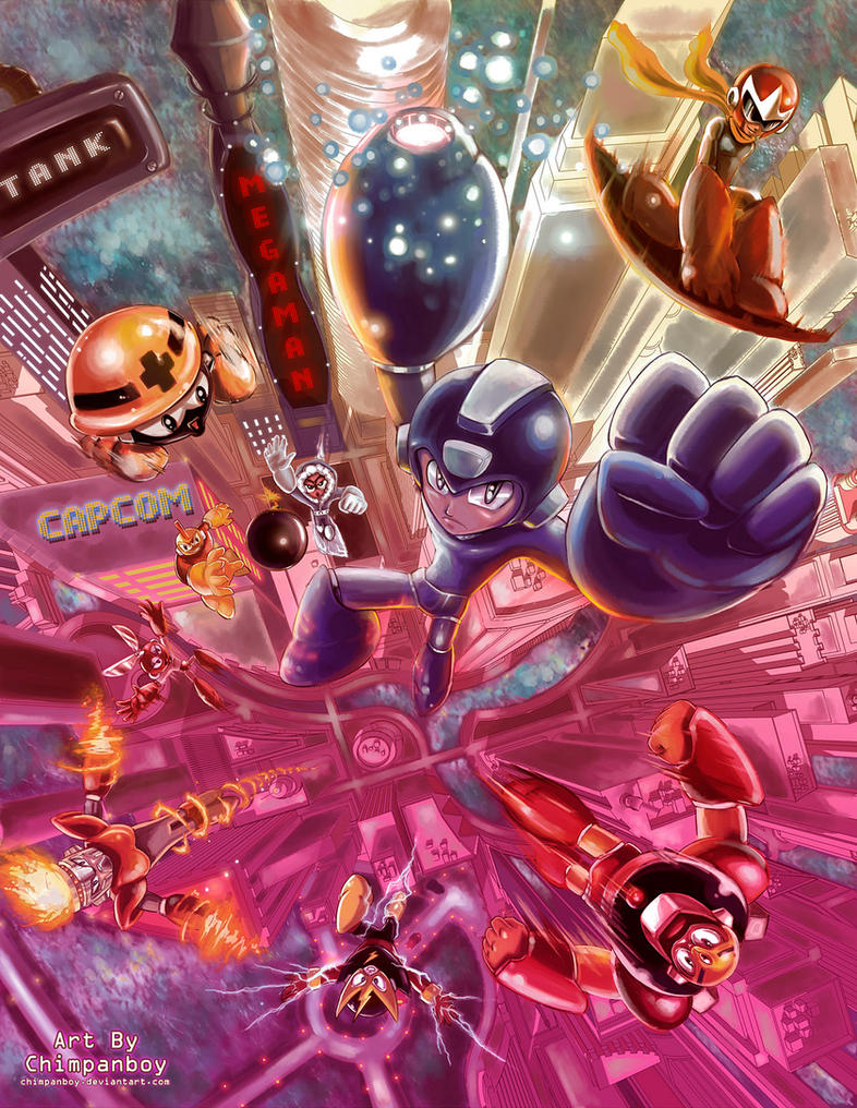 Megaman Tribute - 1st entry by Chimpanboy