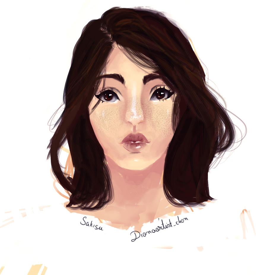 Girl with brown hair by Sakisu-chan