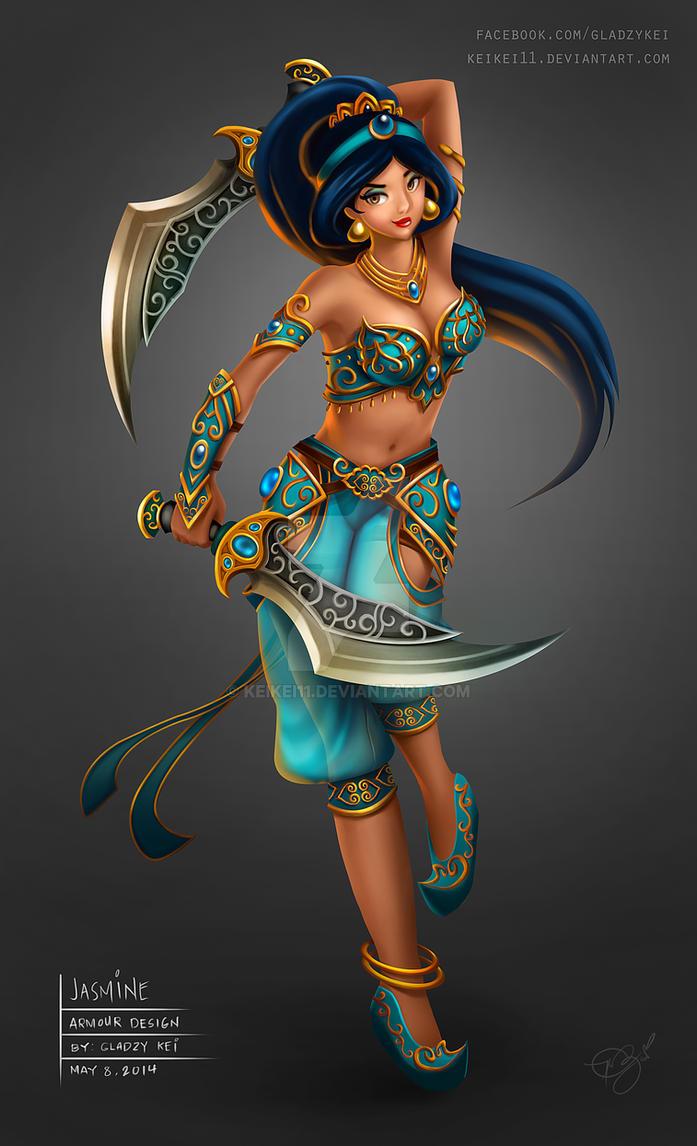 Princesa da batalha de Disney - jasmim por keikei11