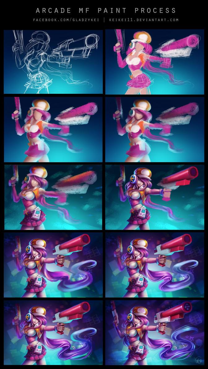 Arcade MF paint process by keikei11