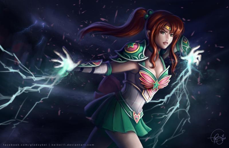 Sailor Jupiter - Fantasy Warrior Concept Art by keikei11