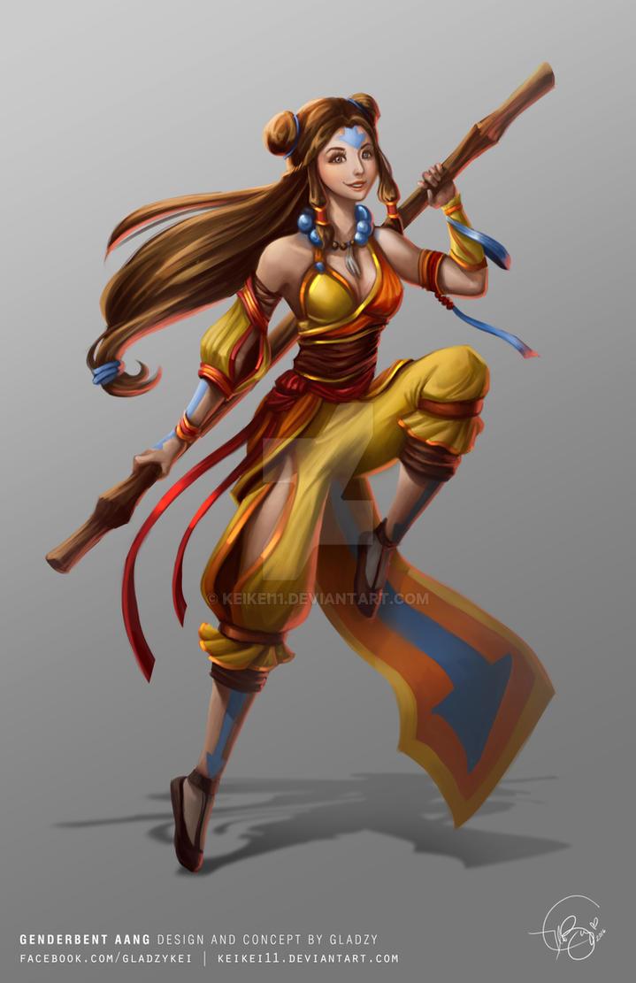 Genderbent Aang by keikei11