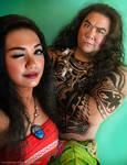Moana and Maui Cosplay