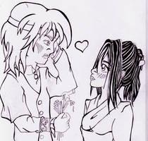 Anyar and Drogath by FloweringWolfsbane