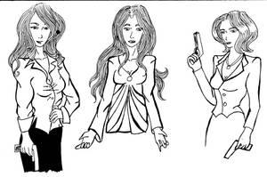 Agent Lewis, Helena, Agent M by FloweringWolfsbane