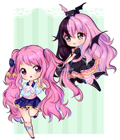 Commission: Wickad and Rini by LuvYuu