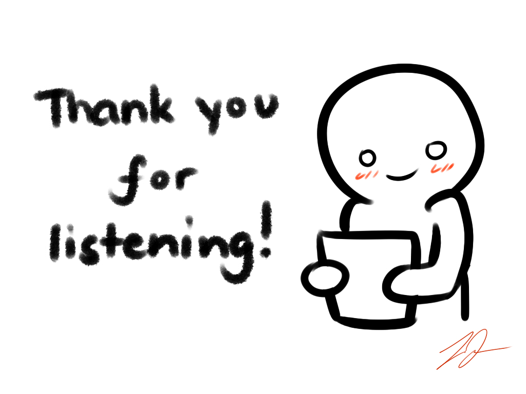 thank you for listening card by lyraeri on deviantart