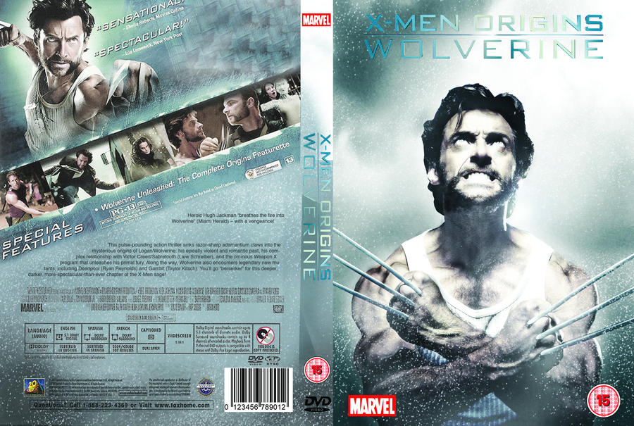 X-Men Origins Wolverine DVD Cover By Lewisshearer On