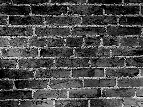 Brick wall in B and W