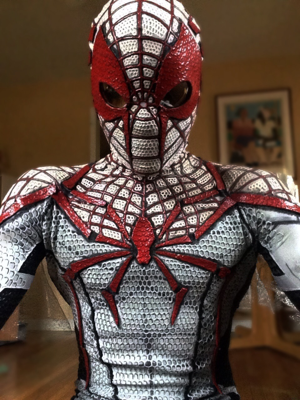 Red and White Spiderman costume by Iracel on DeviantArt