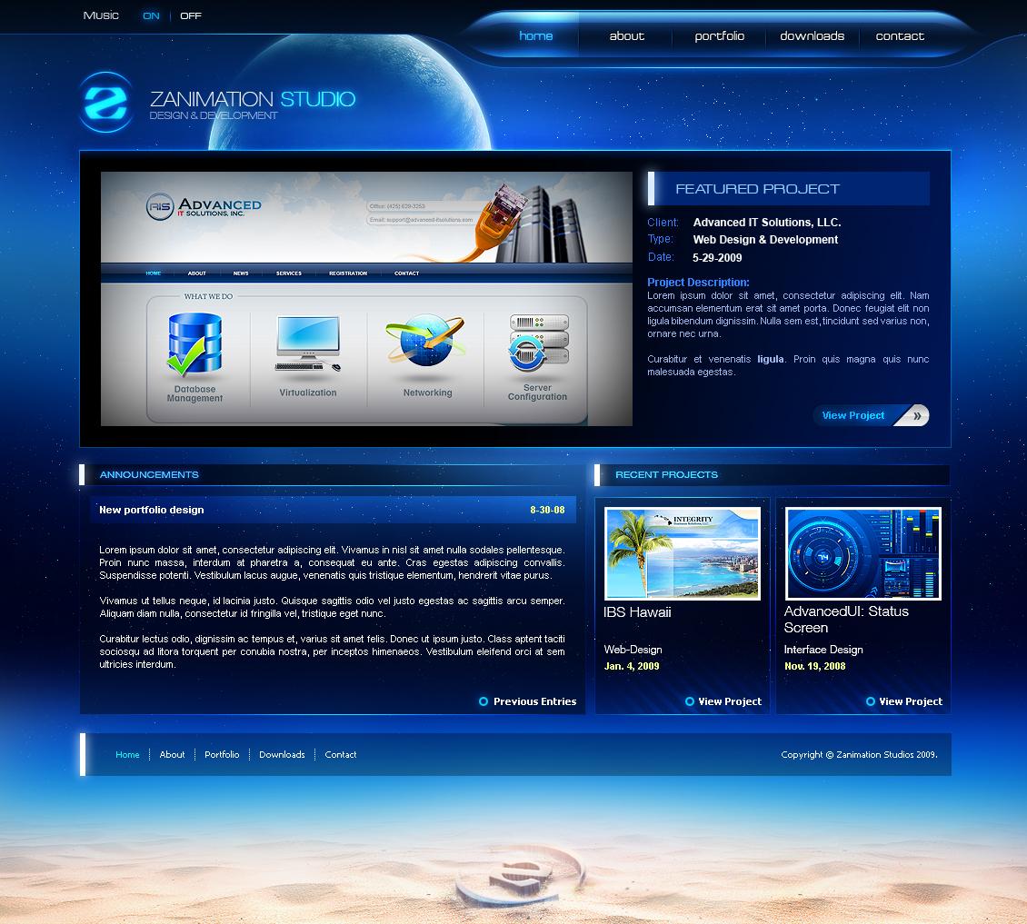 Zanimation Portfolio 2009 by z-design