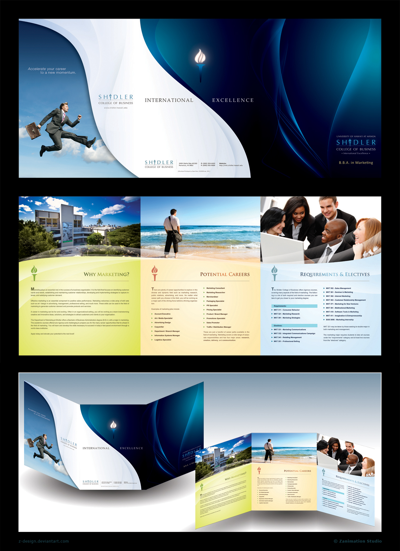 Trifold brochure shidler by z design on deviantart for Designing brochures