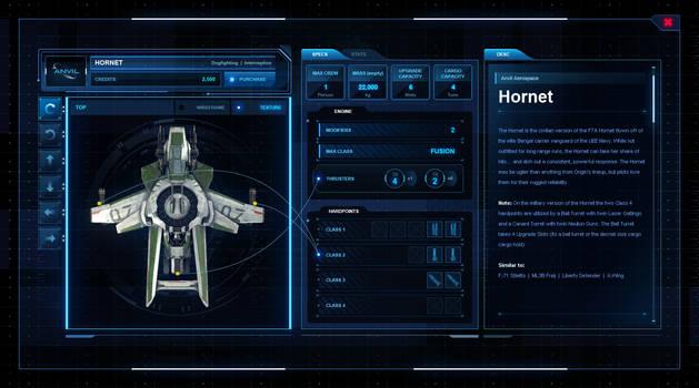 Star Citizen - Roberts Space Industries Ship UI