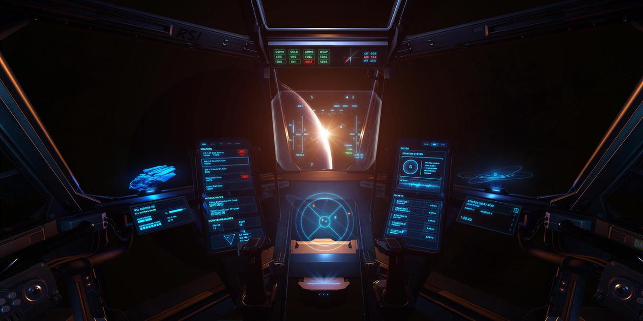 RSI Aurora UI Concept - Star Citizen by z-design