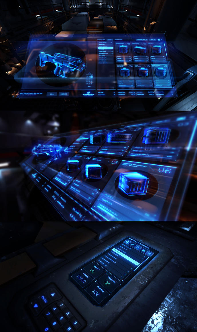 Star Citizen - Cargo Interaction UI Concepts by z-design