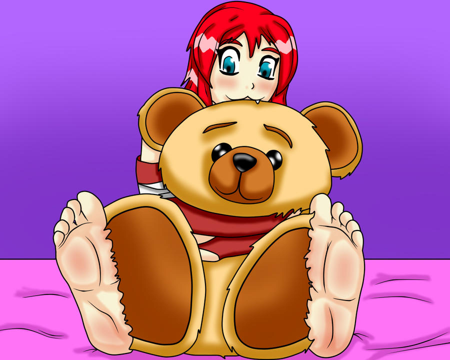 Noriko And Teddy Bear by sasori1100