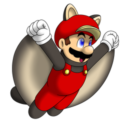 Flying Squirrel Mario by faren916