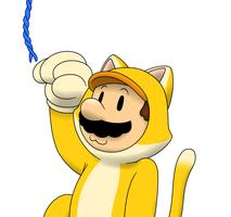 Cat Mario by faren916