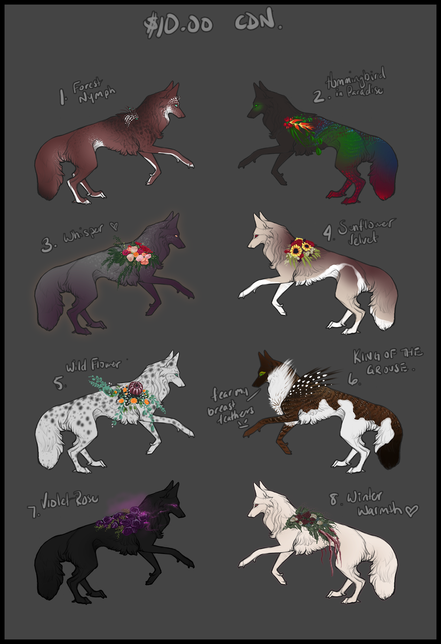 Feb 2018 Adoptables (sold out) by xXNamaste