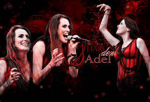 Sharon den Adel in red by CharmingHalliwell