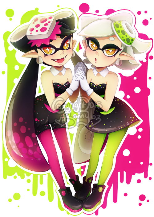 Squid Sisters by Bunnyloz