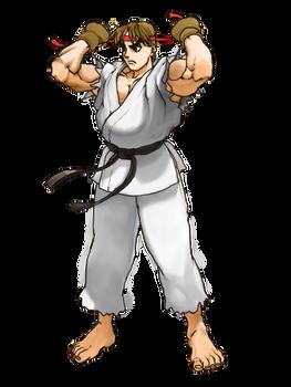 Street Fighter: Ryu artwork remake