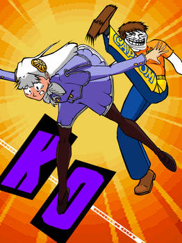 Capcom-Man kicks Ingrid out of Street Fighter