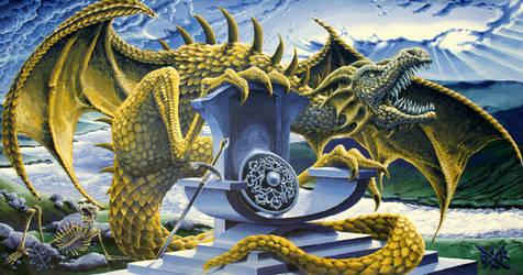 Dragon over Scalloway kingdom