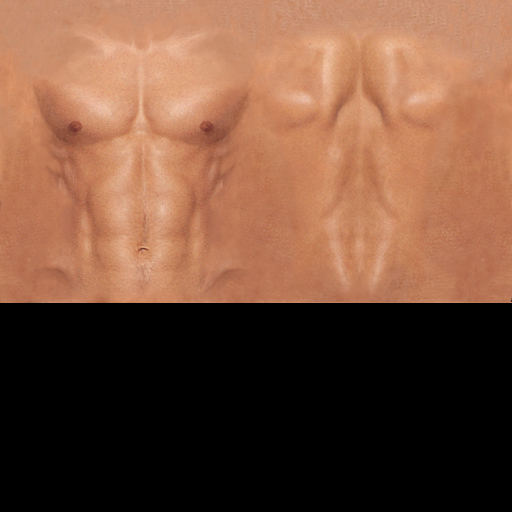 sl male skin template