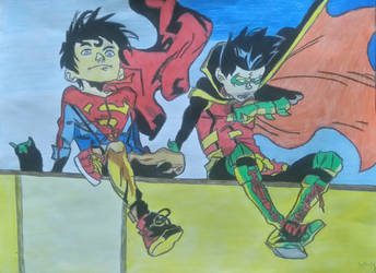 Superboy and Robin-Supersons