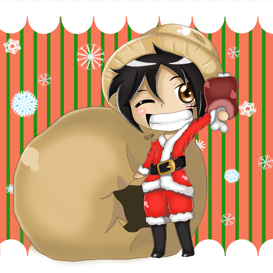 Merry Meatmas! ::Gift:: for berryjang by ElyFelt