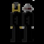 Daft Punk minimalist portrait