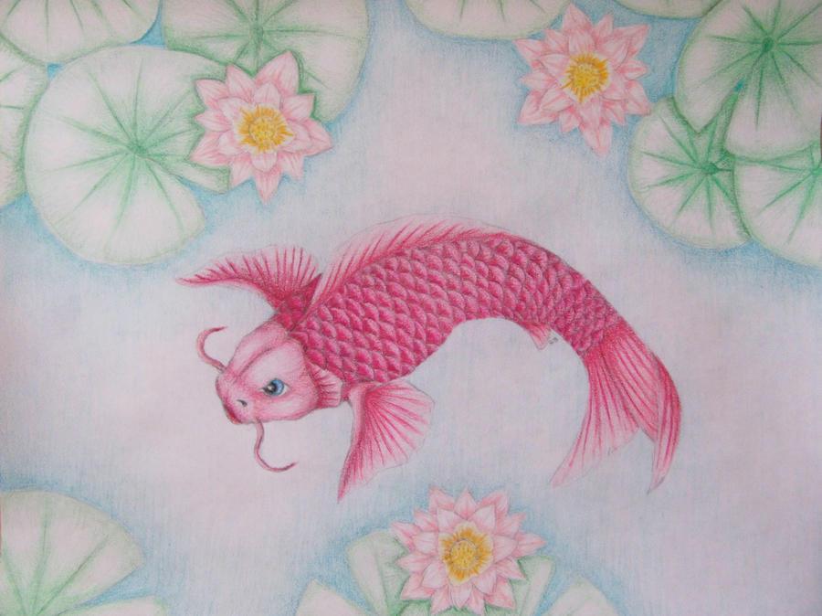 Pink koi fish by winterwolf10 on deviantart for Pink koi fish