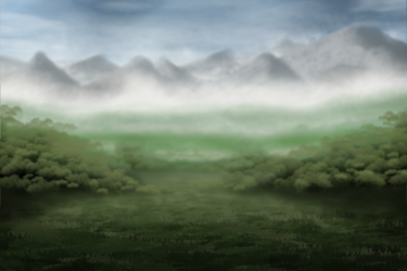 Field with mountains [Free to use] by eesnaxs