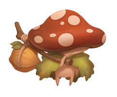 Mushroom Pilgrim | Digital Painting Process Video