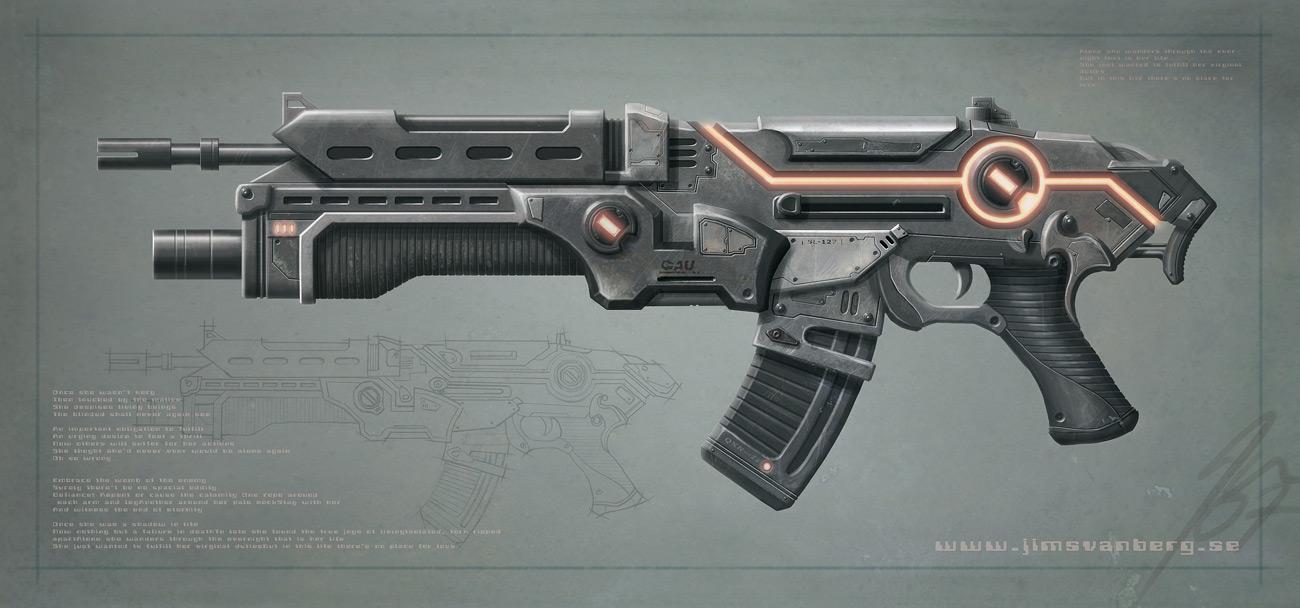 Assault rifle by jimsvanberg