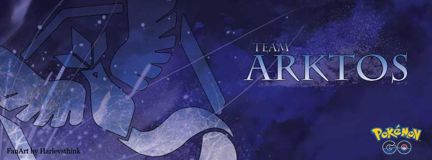 Team Arktos Blue Pokemon Go Banner By Harlevsthink On Deviantart