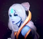 Cosmic Queen Ashe Skin Fan art