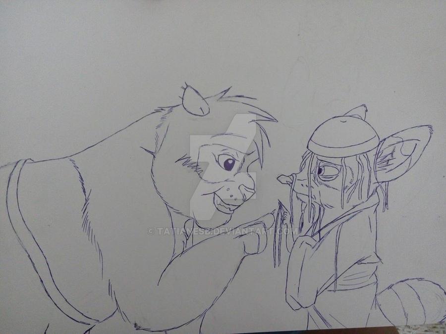 Teen Po and Shifu by TatianeSB