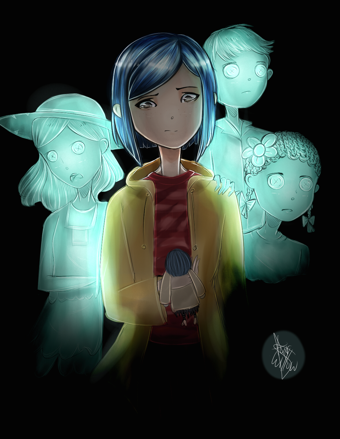 Coraline Fanart Trying To Use Sai By Starwillow14402 On Deviantart