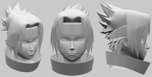 Uchiha Sasuke - head by Ravaiel