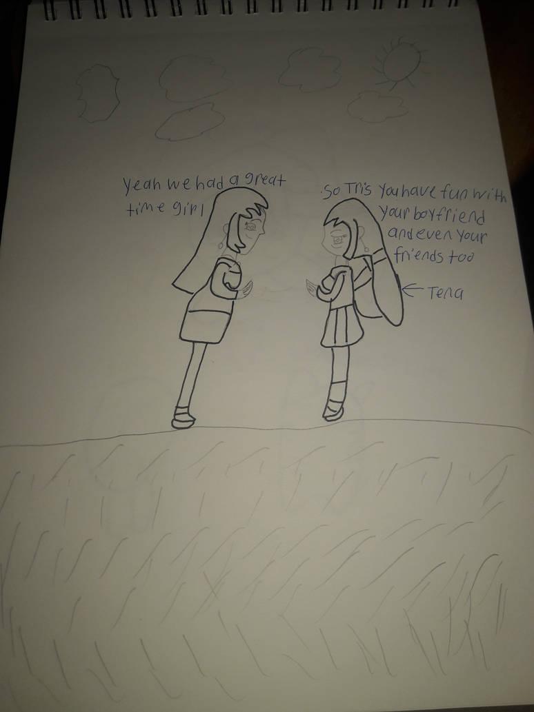Tris and Tena talking about having fun