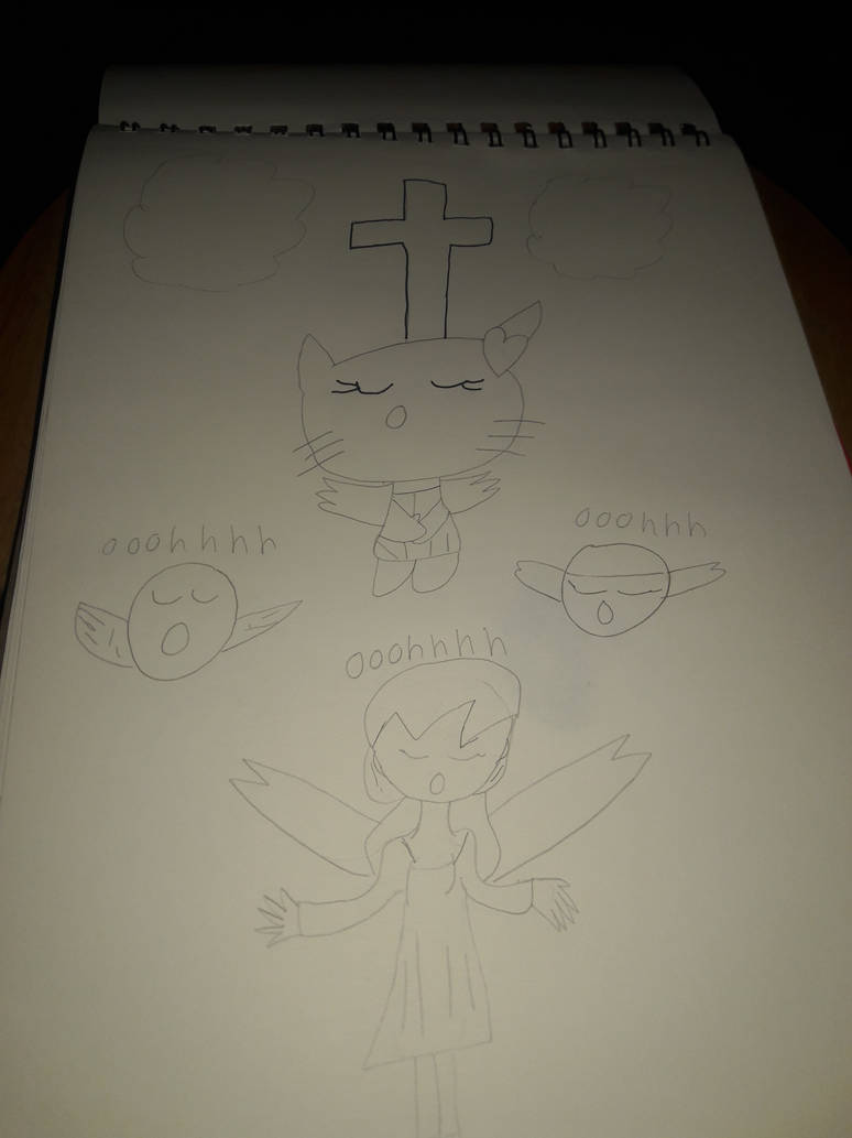 Hello kitty pray for god of angels