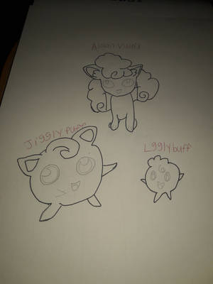 Alolan Vulpix jigglypuff and lgglybuff