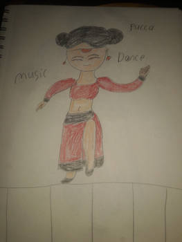 Pucca do the belly dance