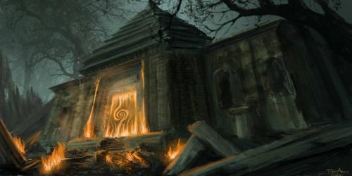 Dusky Dungeon Portal by FrejAgelii