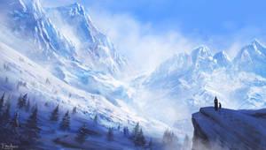 Snowy Peaks by FrejAgelii