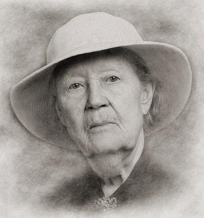 Portrait of the elderly woman Elderly Woman Portrait